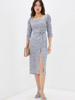 Голубое платье футляр Masha Mart