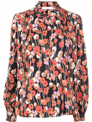 Блузка с принтом - черная See By Chloé