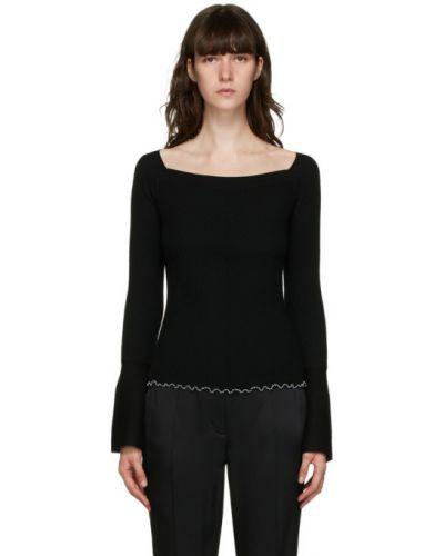 Черный шерстяной длинный свитер с воротником 3.1 Phillip Lim