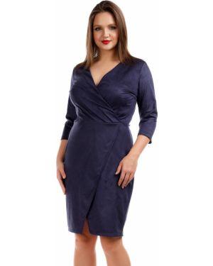Платье с запахом с V-образным вырезом Liza Fashion