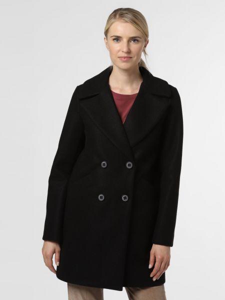 Czarny płaszcz dwurzędowy Amber & June