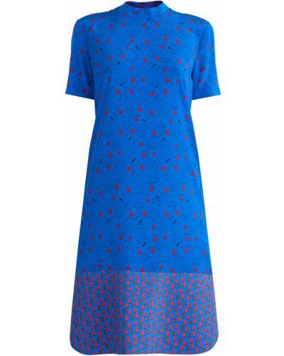 Платье миди с цветочным принтом на пуговицах Marni