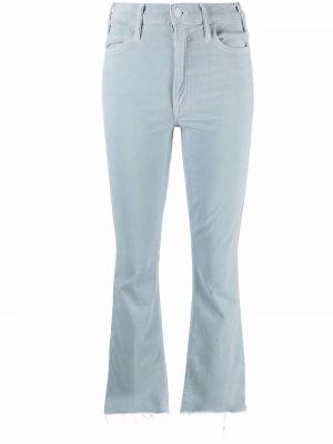 Синие бархатные брюки Mother