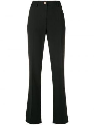 Черные классические брюки с карманами на пуговицах Versace Collection
