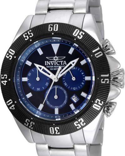 Серебряные часы водонепроницаемые Invicta