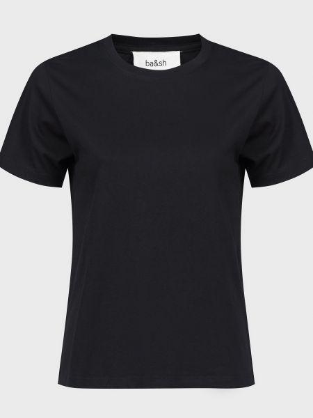 Хлопковая футбольная черная футболка Ba&sh
