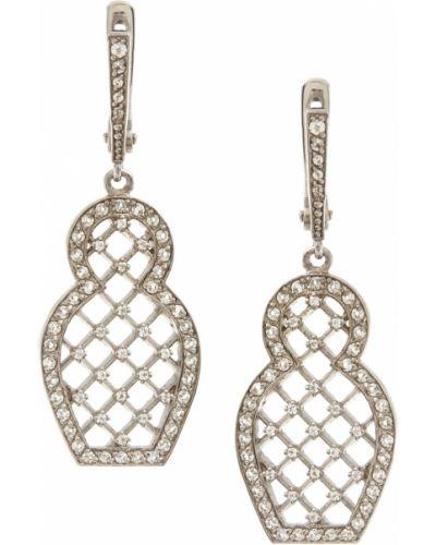 Серебряные серьги с топазом золотые Axenoff Jewellery