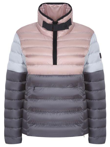 Нейлоновый розовый спортивный костюм с карманами с воротником-стойка Bogner