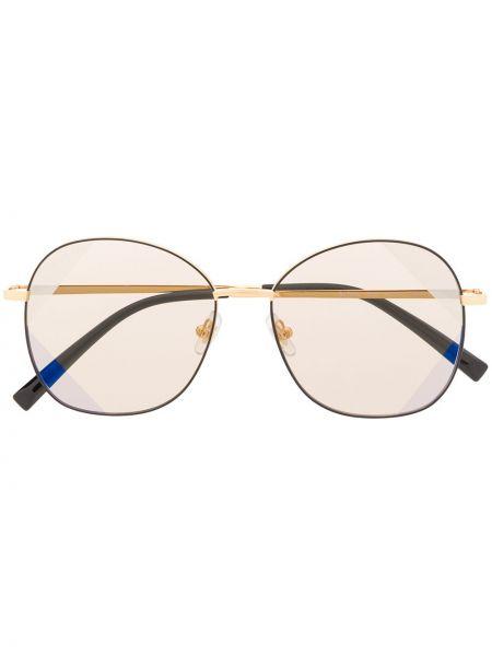 Złote okulary oversize khaki Bolon