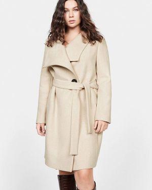 Пальто демисезонное бежевое Violeta By Mango
