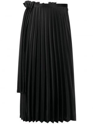 Плиссированная черная с завышенной талией плиссированная юбка Comme Des Garçons Noir Kei Ninomiya