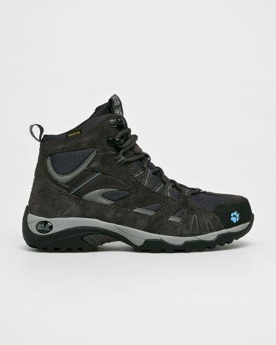 Ботинки на шнуровке кожаные короткие Jack Wolfskin