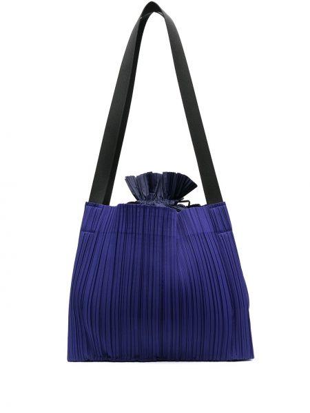 Niebieska torebka z nylonu Pleats Please Issey Miyake
