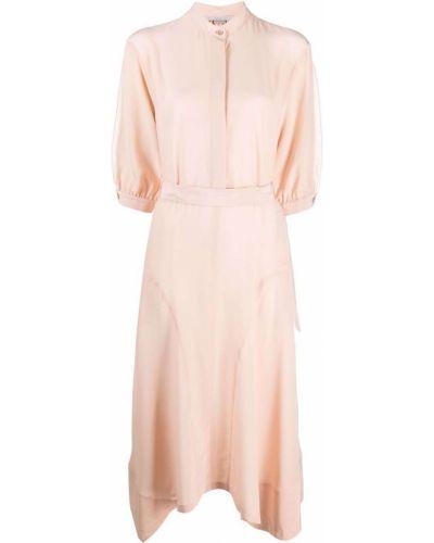 Шелковое платье миди - розовое Stella Mccartney