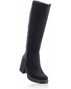 Ботинки на каблуке на каблуке черные Bonprix