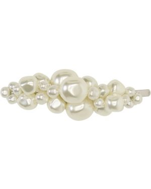 Spinka do włosów z perłami ze srebra Simone Rocha