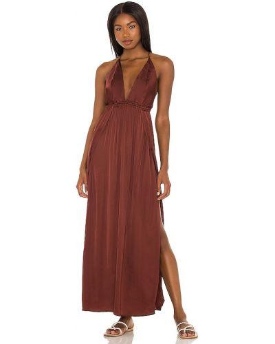 Сатиновое вечернее платье - черное Indah