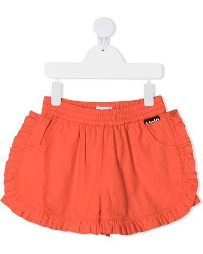 Хлопковые шорты с поясом со вставками Molo