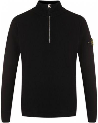 Черный свитер с воротником-стойкой Stone Island