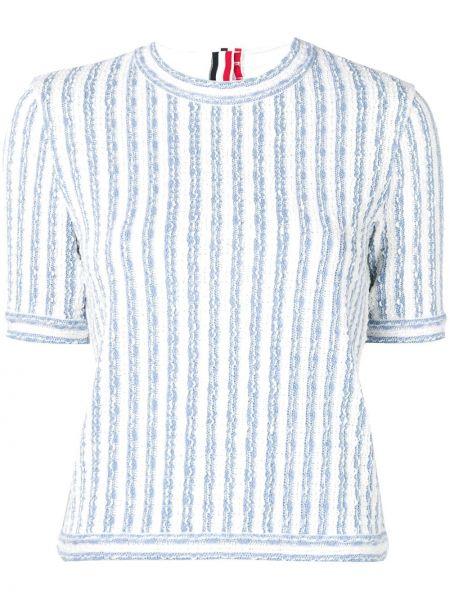 T-shirt szeroki z paskami Thom Browne