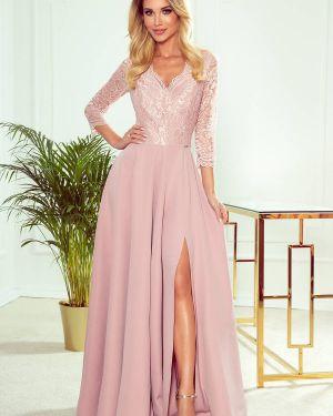 Sukienka elegancka koronkowa materiałowa Numoco