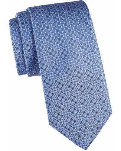 Синий шелковый медальон с вышивкой Eton