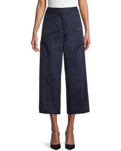 Хлопковые укороченные брюки с карманами свободного кроя Lacoste