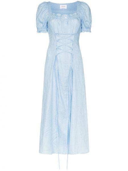 Niebieska sukienka długa Sleeper