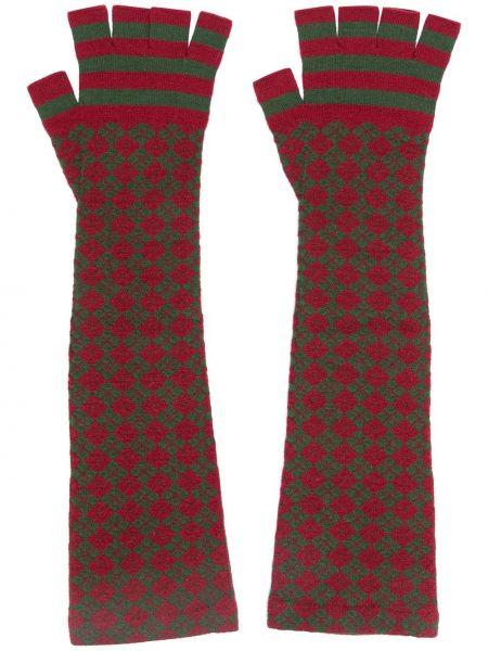 Zielone rękawiczki bez palców wełniane Chanel Pre-owned