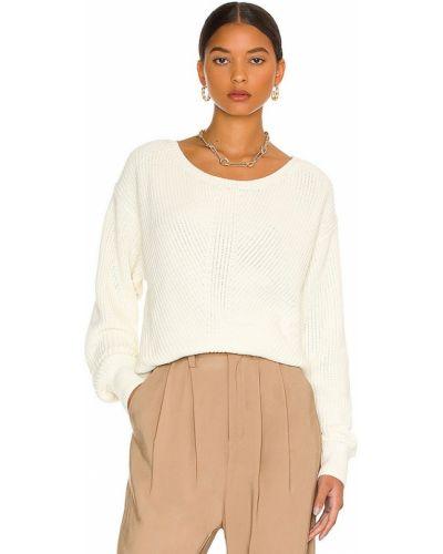 Sweter bawełniany - biały Bobi
