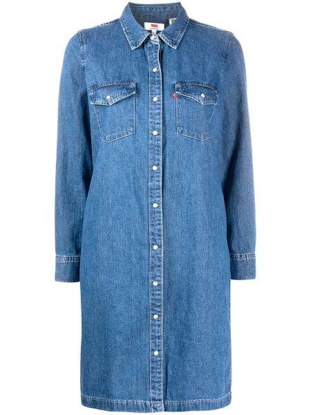Прямое классическое джинсовое платье на пуговицах с воротником Levi's®