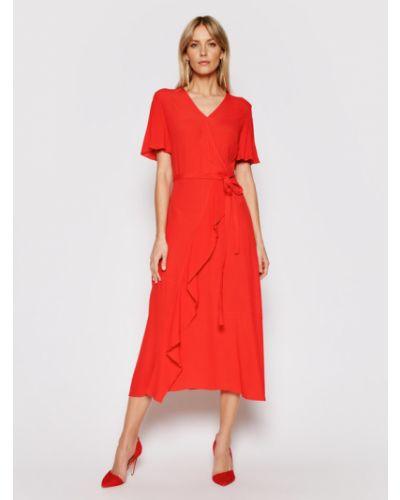 Czerwona sukienka casual Silvian Heach