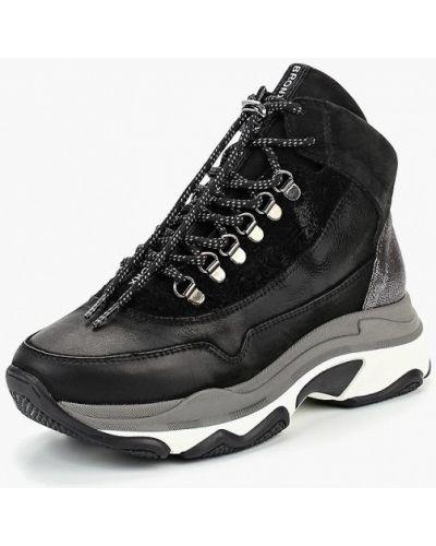 Высокие кроссовки замшевые из нубука Bronx