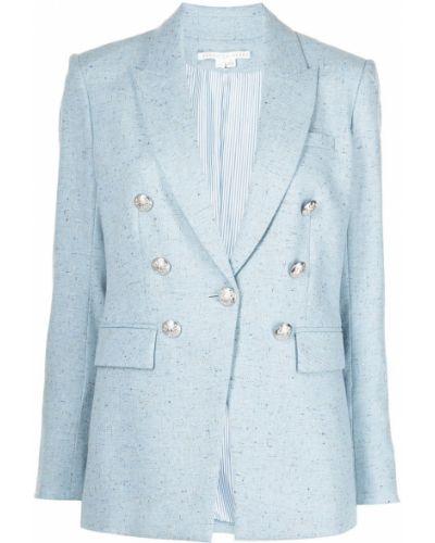 Однобортный синий удлиненный пиджак с подкладкой Veronica Beard