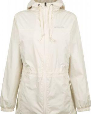 Приталенная белая нейлоновая куртка с капюшоном на молнии Columbia