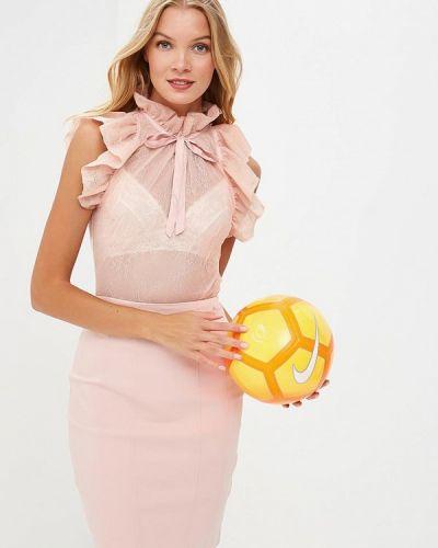 Розовая блузка с рюшами Love Republic