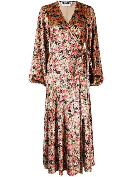 Облегающее платье с запахом с цветочным принтом Rotate