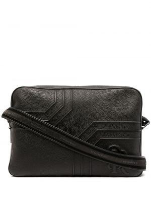 Czarna torba na ramię skórzana Stefano Ricci