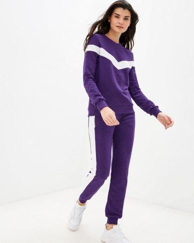 Костюмный фиолетовый спортивный костюм D.s