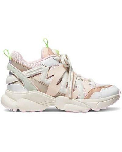 Кожаные кроссовки на каблуке на шнурках Michael Michael Kors