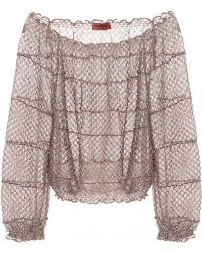 Бежевая блузка из вискозы Missoni