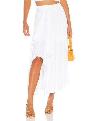Белая трикотажная юбка на резинке Krisa