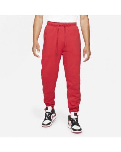 Czerwone spodnie dzianinowe Jordan