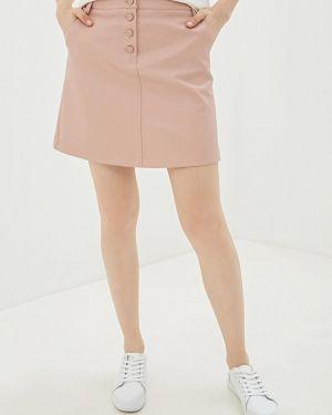 Кожаная юбка розовая Befree