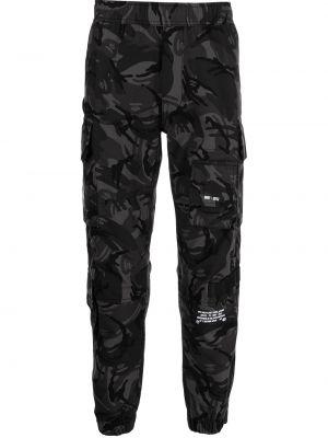 Czarne spodnie z printem Aape By A Bathing Ape