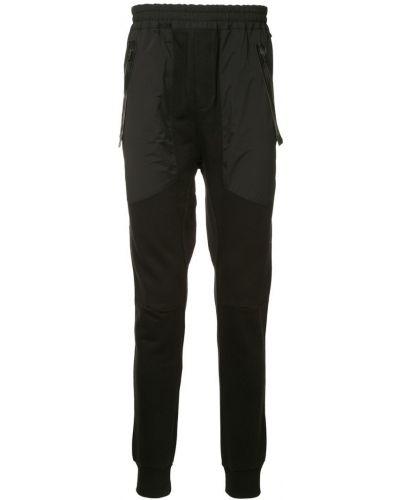 Черные спортивные брюки с поясом на пуговицах Les Benjamins