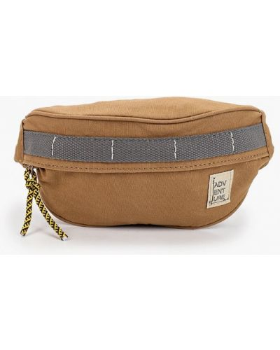 Хлопковая коричневая поясная сумка Mango Kids