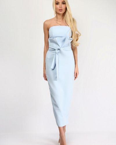 Голубой юбочный костюм Lipinskaya Brand