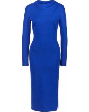 Облегающее платье синее с длинными рукавами Olga Skazkina
