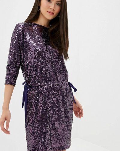 Вечернее платье осеннее фиолетовый Lusio